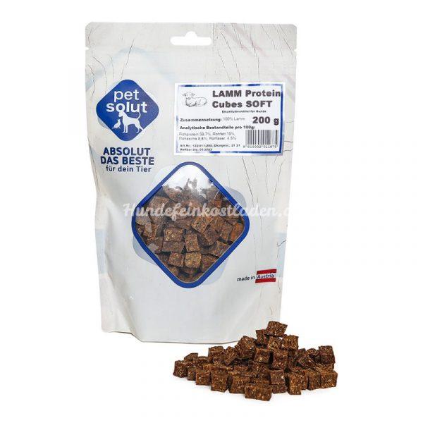 petsolut lamm protein cubes soft 200g