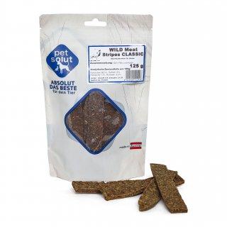 petsolut wild meat stripes soft 150g