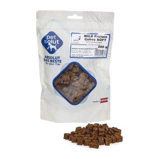 petsolut wild protein cubes soft 200g