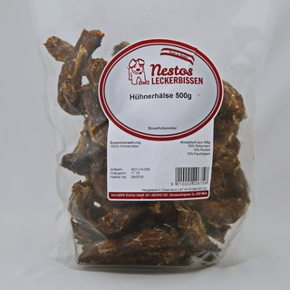 Hundefeinkosladen-Nestos-Hühnerhälse
