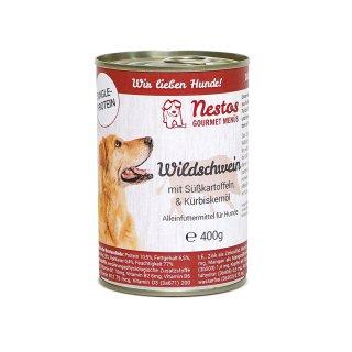 nestos gourmet menues wildschwein mit suesskartoffeln kuerbis 800g