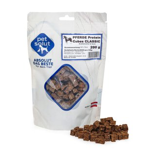 petsolut pferde protein cubes classic 200g