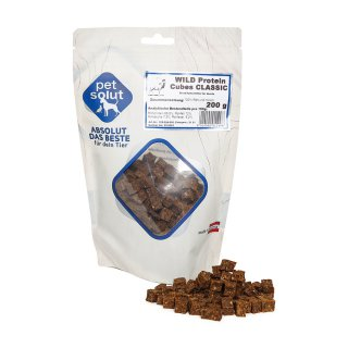 petsolut wild protein cubes classic 200g